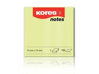 Samolepicí bločky Kores - 75 x 75 mm / 100 lístků
