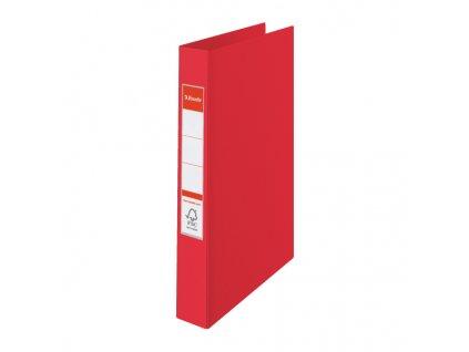 Pořadač A4 kroužkový celoplastový - 2 - kroužek / červená