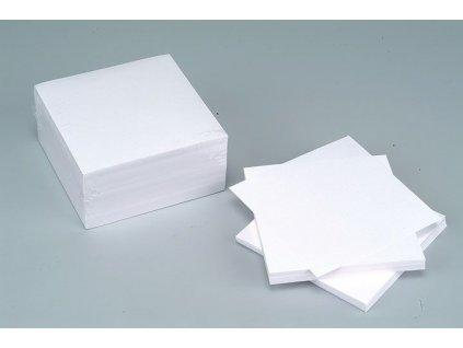 Záznamní kostky bílé - 9,5 cm x 9,5 cm x 7 cm / nelepená vazba