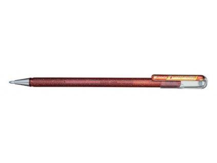 Gelové pero Pentel K 110 metalické dvoubarevné - oranžová / metalická žlutá