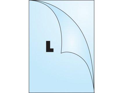 Zakládací obal tvar L - tvar L / A4 čirý / 80 my / 100 ks