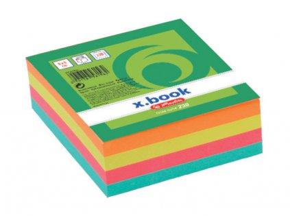 Záznamní kostky barevné Herlitz - 8 cm x 8 cm x 3 cm / 230 lístků / lepená vazba