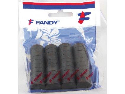Magnety černé Fandy - průměr 25 mm / 20 ks