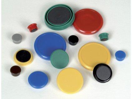 Magnety - průměr 24 mm/ modré / 10 ks