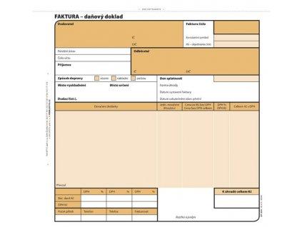 Faktura Optys - 20 cn x 21 cm / 100 listů NCR / 1074