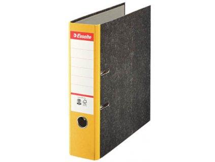 Pořadač A4 pákový papírový s barevným hřbetem - hřbet 7,5 cm / žlutá