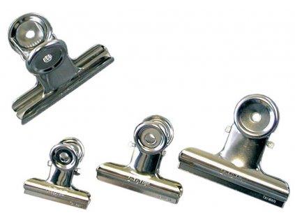 Klipy kovové stříbrné - 31 mm