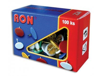 Připínáčky barevné RON - 100 ks / barevný mix