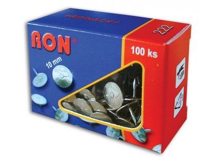 Připínáčky RON - 222 / 100 ks, velikost 10 / 8