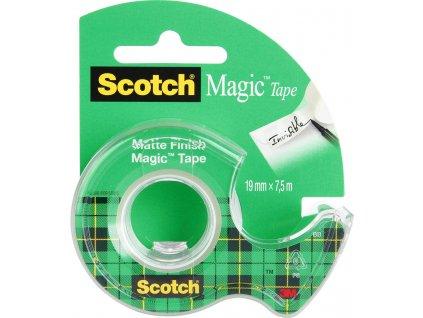 Lepicí páska Scotch Magic s odvíječem - 19 mm x 7,5 m