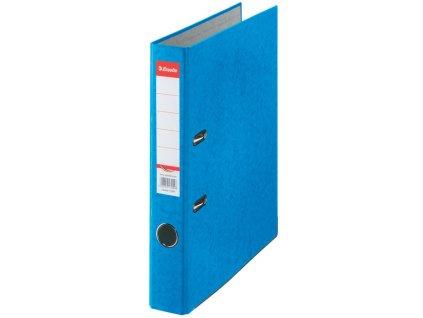 Pořadač A4 pákový kartonový Rainbow - hřbet 5 cm / modrá
