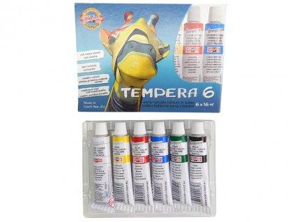 Temperové barvy - 6 barev / tuby 16 ml