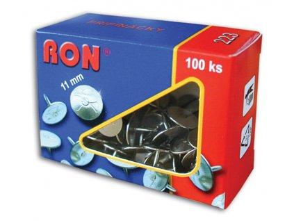Připínáčky RON - 223 / 100 ks, velikost 11 / 9