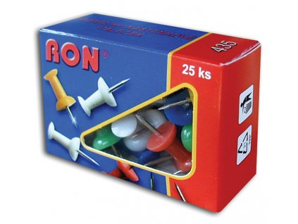 Špendlíky na nástěnku RON - 25 ks