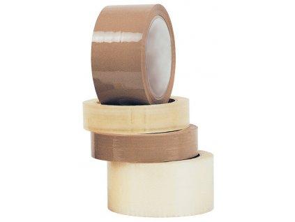 Balicí pásky - 25 mm x 66 m / hnědá