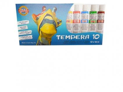 Temperové barvy - 10 barev / tuby 16 ml