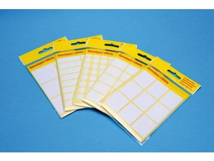 Samolepicí etikety v sáčku - 42 x 12 mm / 160 etiket