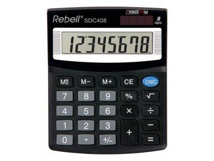 Kalkulačka Rebell SDC - displej 8 míst / 408+ černá