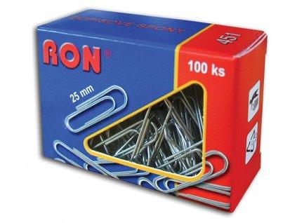 Dopisní spony RON - 25 mm / 100 ks