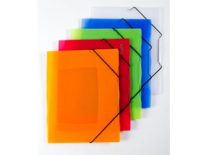 Spisové desky A4 s gumou Opaline - oranžová