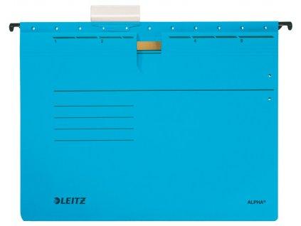 Závěsné desky Leitz Alpha s rychlovazačem - modrá