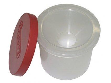 Kelímek na vodu s uzávěrem - transparentní