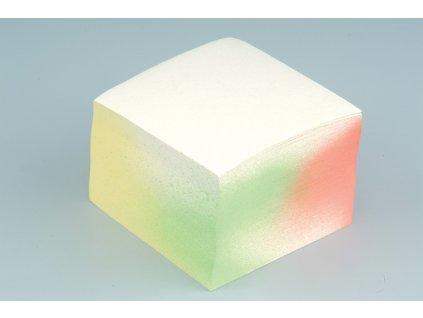 Záznamní kostky bílé - 9 cm x 9 cm x 7 cm / lepená vazba