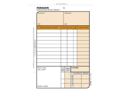 Paragon Optys - A6 / číslovaný 2 x 50 listů NCR / 1086