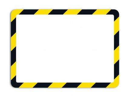 Kapsy Tarifold Magneto bezpečnostní - A4 / žluto-černá/ 2 ks / samolepicí