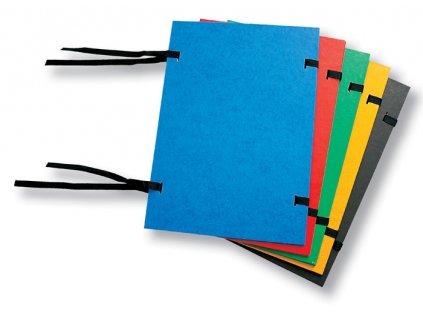 Spisové desky s tkanicí prešpánové - modrá