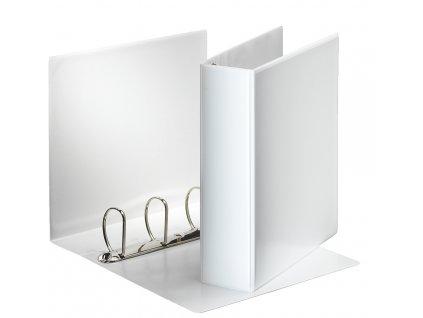 Pořadač A4 kroužkový prezentační - hřbet 8,6 cm -4 - kroužek / bílá