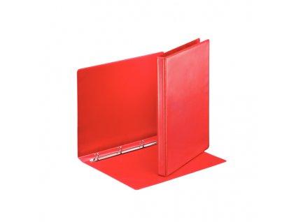 Pořadač A4 kroužkový prezentační - hřbet 3 cm -4 - kroužek / červená