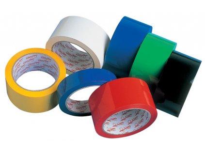 Balicí pásky barevné - 25 mm x 66 m / modrá