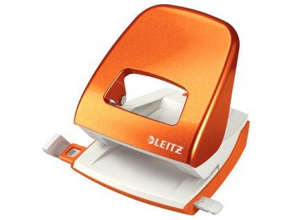 Kancelářský děrovač Leitz 5008 - metalická oranžová