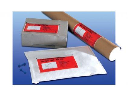 Obálky samolepicí na zásilky - DL / 240 mm x 120 mm / červené