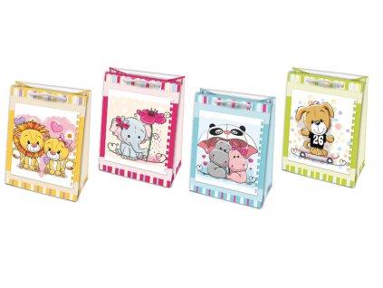 Tašky dárkové papírové dětské - L / 23 x 32 cm