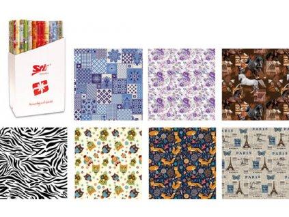 Papíry balicí dárkové - 70 x 100 cm / 2 ks / motiv dekor