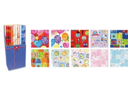 Papíry balicí dárkové - 70 x 200 / dětské motivy