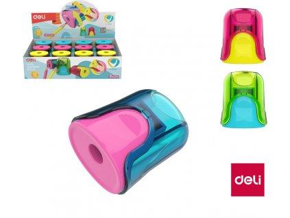 Ořezávátko se zásobníkem DELI U-TOUCH - barevný mix
