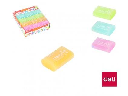 Pryž DELI Neon - barevný mix