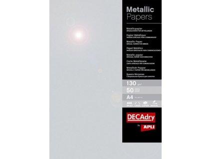 Papír metalický APLI A4 - stříbrná / 50 ks