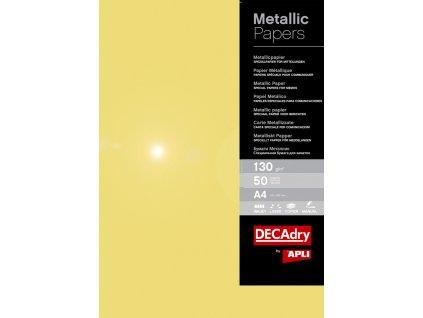 Papír metalický APLI A4 - zlatá / 50 ks