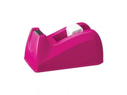 Stolní odvíječ lepicí pásky DELI - růžová