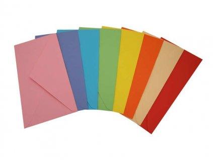 Obálky barevné - DL / 20 ks