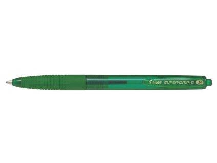 Kuličkové pero Pilot Super Grip-G transparentní - zelená