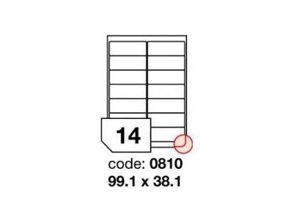 Etikety samolepicí bílé - 99,1 x 38,1 / 100 archů