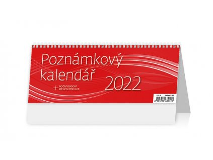 Poznámkový kalendář 2022 office