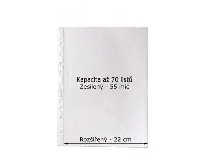 Závěsný obal Copy - A4 čirý / 55 my / 100 ks