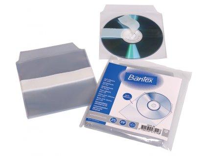 Samolepicí kapsa na CD s klopou - na CD / 25 ks