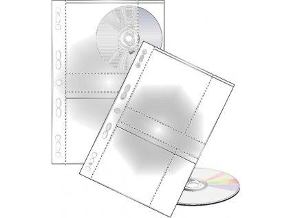 Závěsný obal A4 na CD - obal na 2 CD / 10 ks